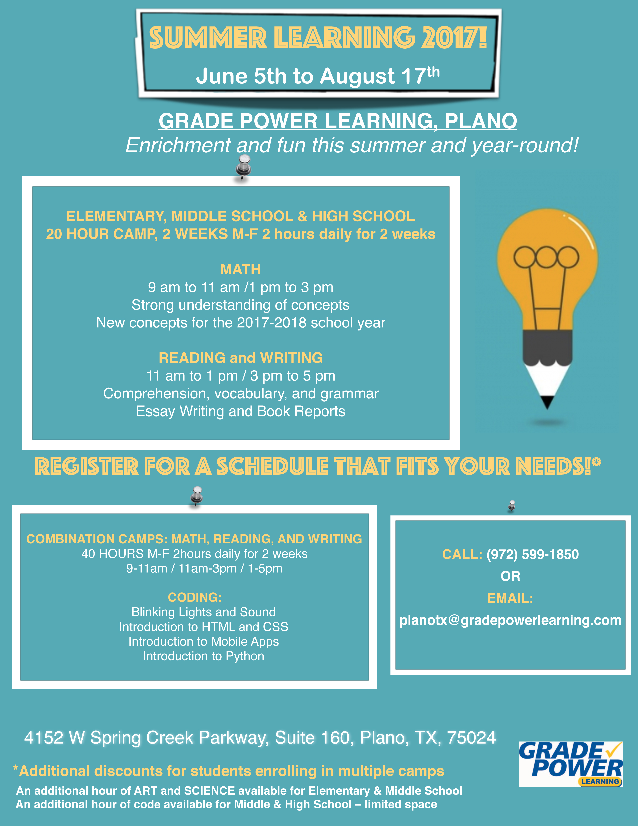 GradePower Learning - Tutoring Center in Plano, TX, Austin, TX ...
