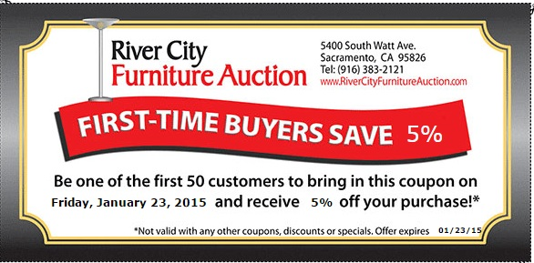 Offers From River City Furniture Auction In Sacramento , CA
