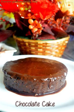 Eggless Chocolate Cake Recipe in Pressure Cooker - Local ...