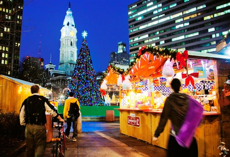Christmas Village Love Park.Christmas Village At Love Park Local Pulse Indian