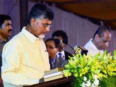 The 64 Year Old Chandrababu Naidu Assumes Office As The Chief Minister For The Third Time But Is The First To Take Up The Post After The Newly Created