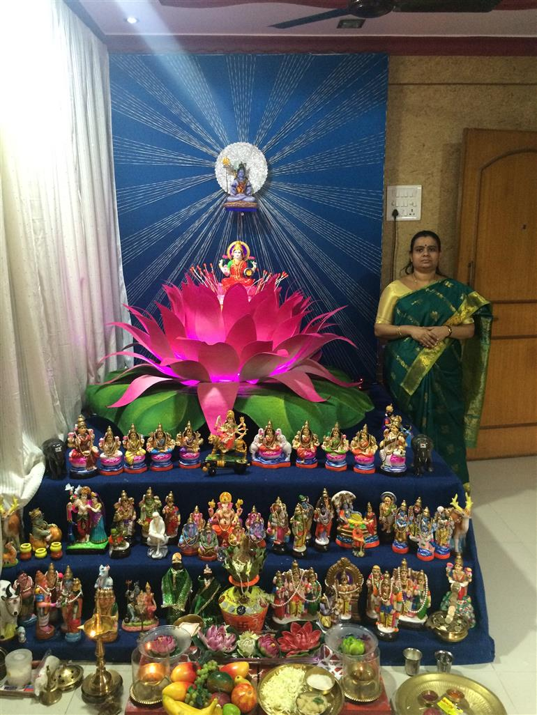 Jayashrees Lotus Themed Golu Culture Indian Events Articles