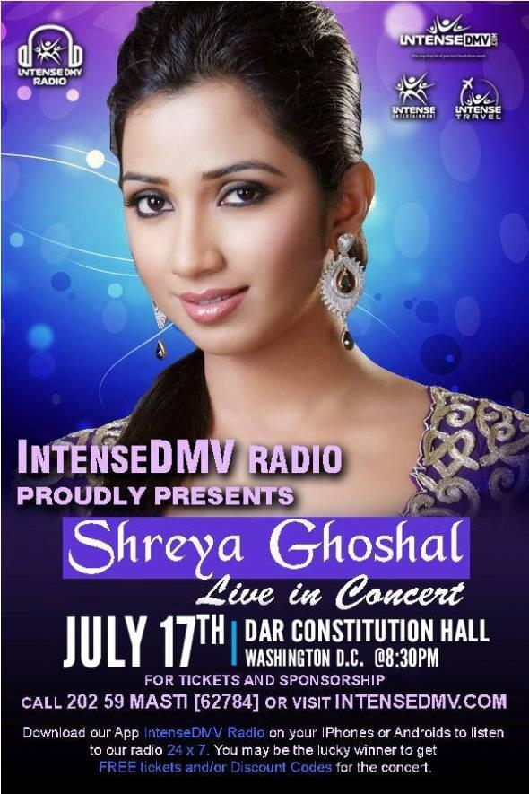 New-age Nightingale - Shreya Ghoshal's Tour of the US this Weekend