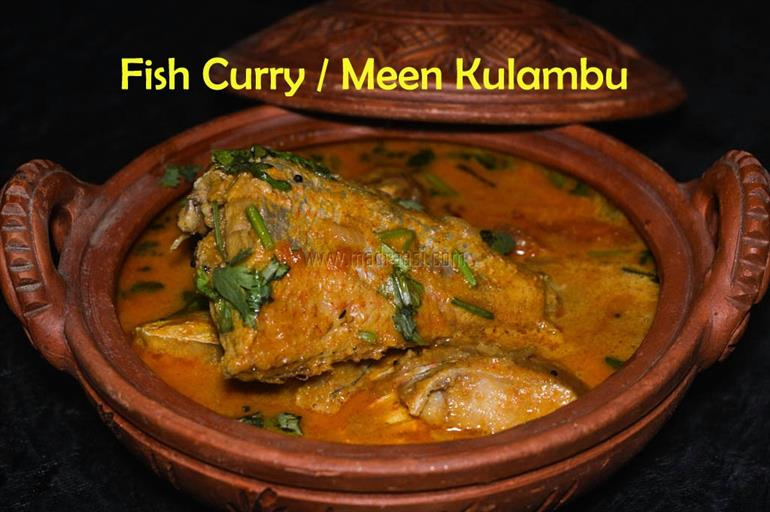 Fish Curry / Sankara Meen Kulambu in MannPaanai - Food